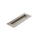 Satin Nickel Flush Pull Handle 150mm Rectangle side