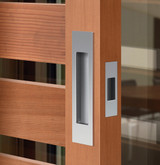 mardeco brushed nickel passage sliding door handle set 2