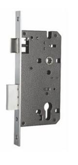 SATIN NICKEL Door Handle ENTRANCE (63mm rose) I Mucheln BERKLEY Series