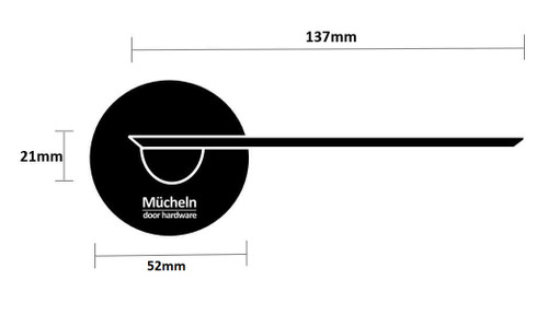 dimensions black door handle edge