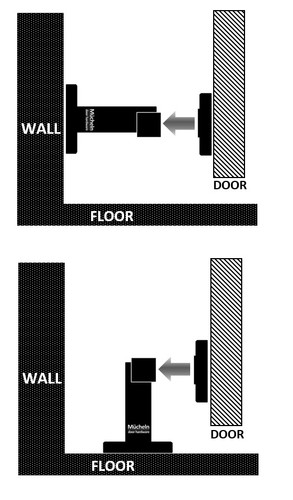 floor and wall mounted options black