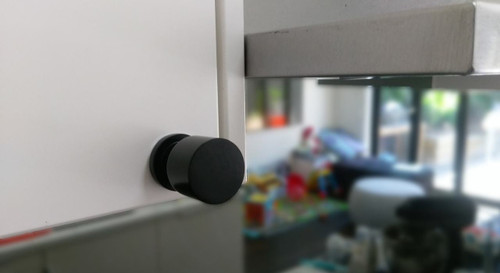 Matte black cupboard finger pull knob tall situational