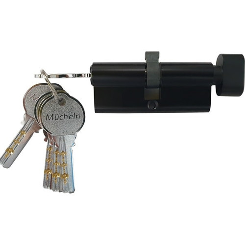 black cylinder entrance handle