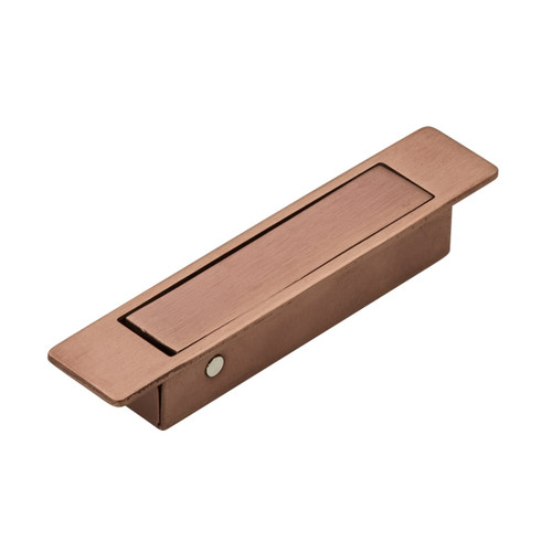 brushed copper flush lever handle pull out side