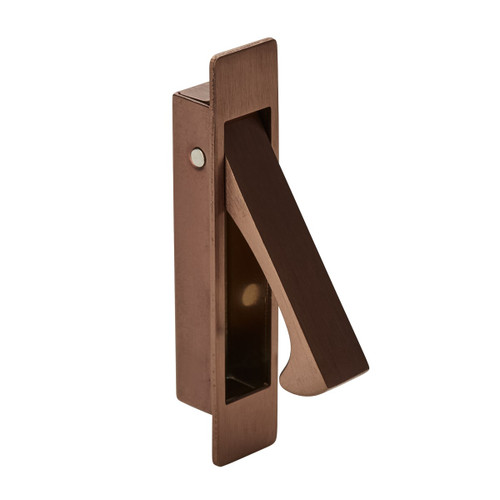 brushed copper flush lever handle pull out