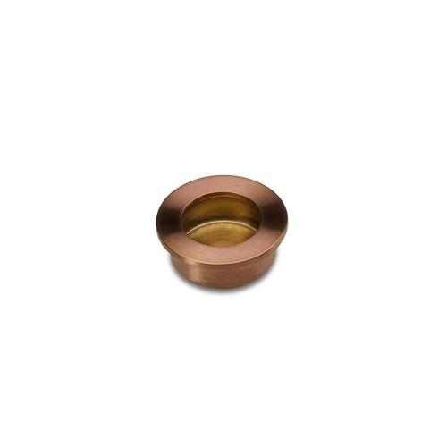 brass 30mm flush pull side