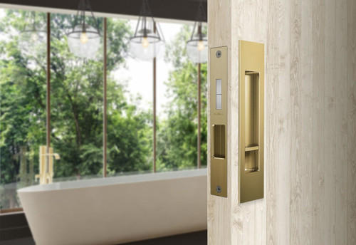 Mardeco brass sliding door flush pull set privacy 2