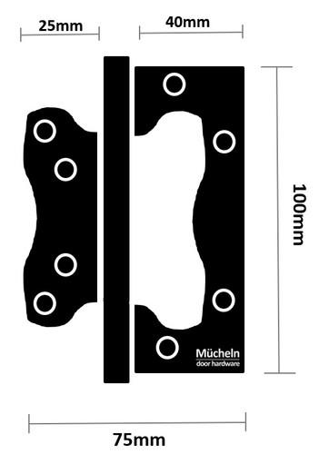 gunmetal flush door hinge