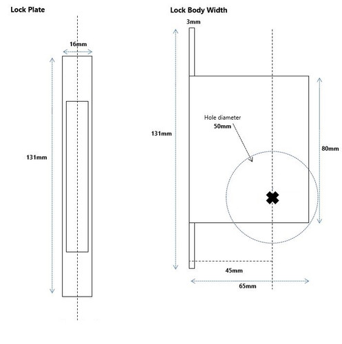 cavity slider dimensions 2
