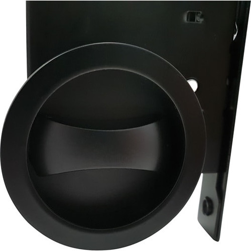 black privacy cavity slider pocket door side