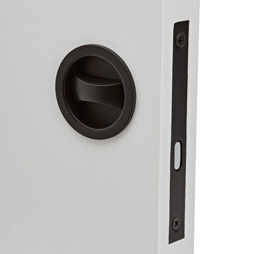 black privacy cavity slider pocket door