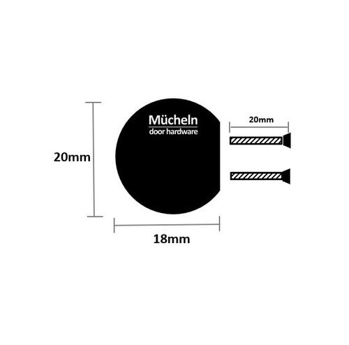 gunmetal grey curve cupboard knob 25 dimensions