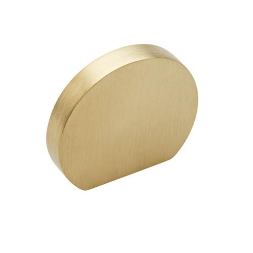 brass curve cupboard knob