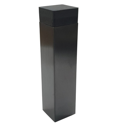 gunmetal grey square rubber door stop