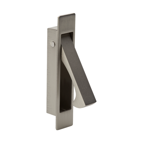 satin nickel flush lever handle pull out
