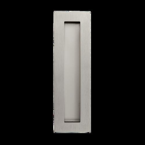 Satin Nickel 200mm flush door handle side