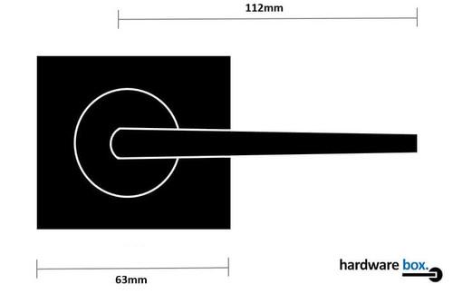 nidus black door handle dimensions square
