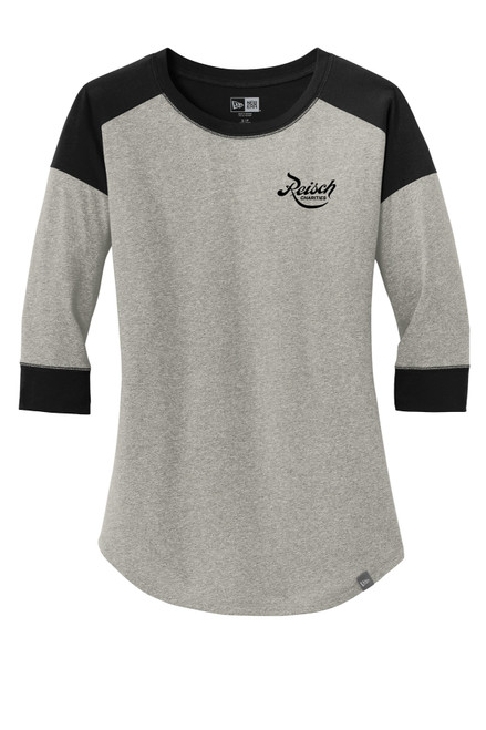 LNEA104 - New Era Ladies Heritage Blend 3/4 Baseball Reglan Tee