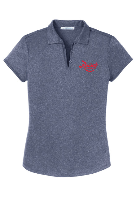 L576 - Port Authority Ladies Trace Heather Polo