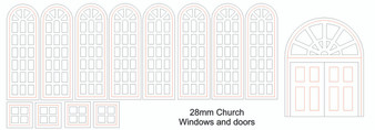 28mm Church Doors and Windows