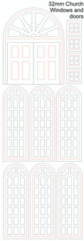 32mm Church Doors and Windows