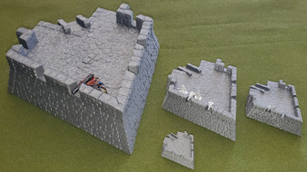 Four Cornered Fort Bastion - LARGE FORMAT upgrade