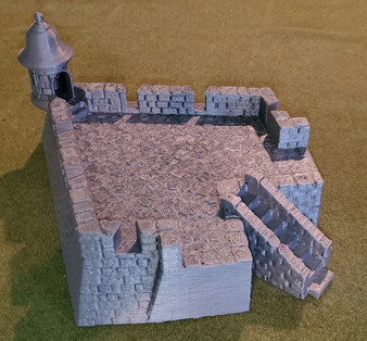 Four Cornered Fort Bastion with Bartizan - LARGE FORMAT upgrade