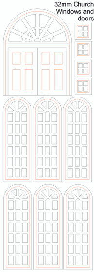 32mm Church Doors and Windows