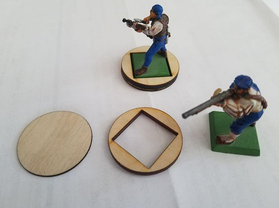 20mm square to 32mm round conversion base kit