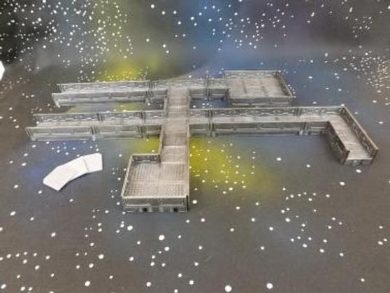 Spaceship X Modular Corridor tiles