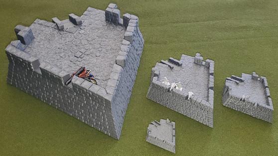 Four Cornered Fort Bastion - LARGE FORMAT upgrade