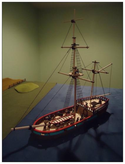 28mm Pirate Brigantine