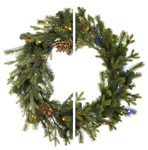 """30"""" Grand Majestic Wreath with Color Changing"""