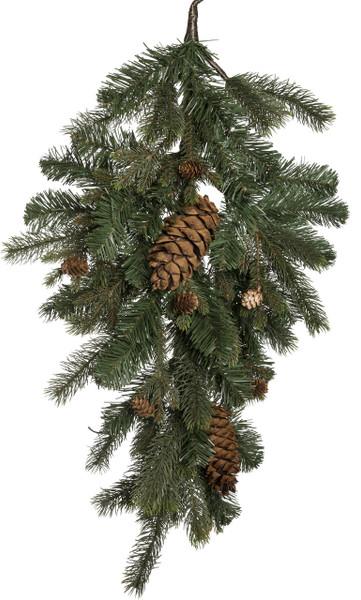 "30"" Grand Majestic Christmas Teardrop Wreath"