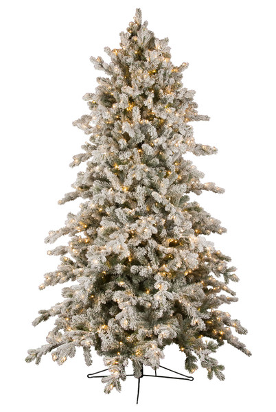 9' ForeverTree  Deluxe Downswept Slim Snowy Douglas Fir EasyLite Tree with Remote