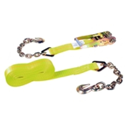 "2"" x 30' Ratchet & Strap w/ Chain anchors"