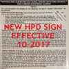 HPD SIGNS