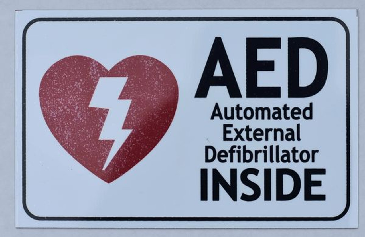 Aed Inside Sign Automated External Defibrillator Inside Sign