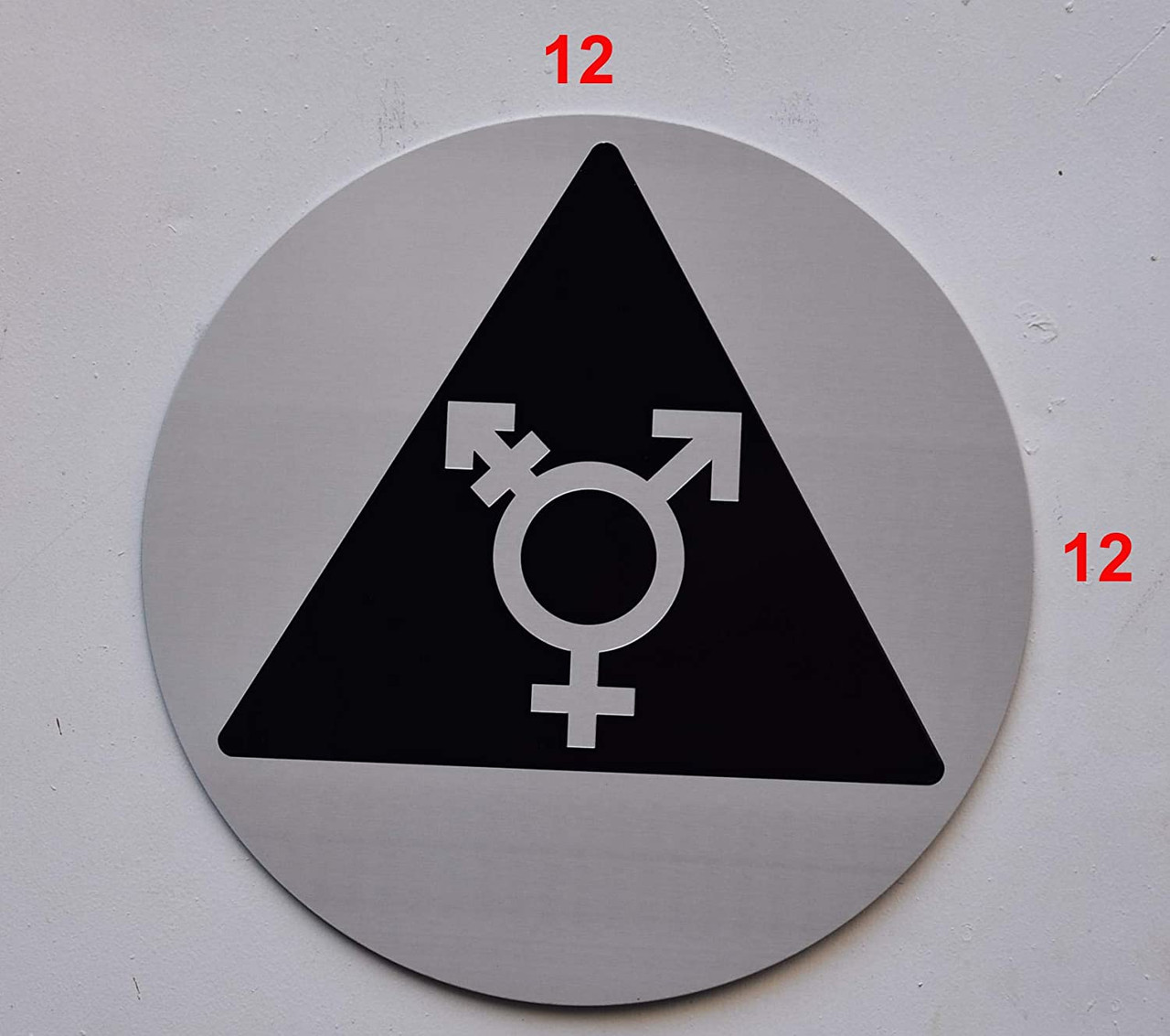 12x12 Gender Neutral Symbols in Black and White Window Cling 5-Pack CGSignLab