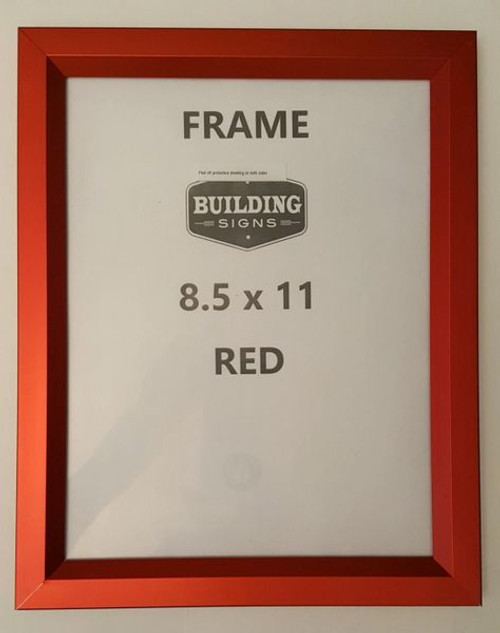 Elevator Inspection Frame 85 X 11 Red Heavy Duty Aluminum