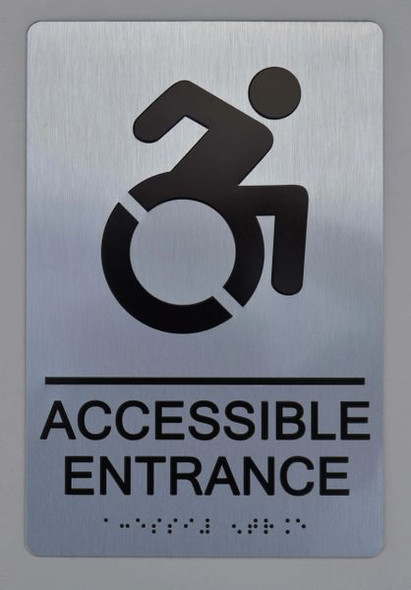 Accessible Entrance Directional Sign ADA-Sign -Tactile Signs The sensation line  Ada sign