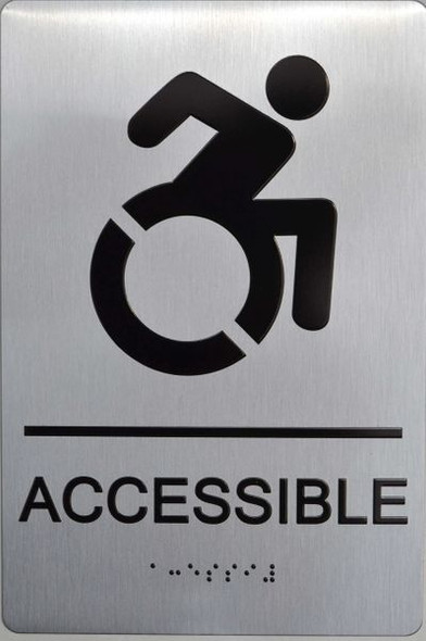 ACCESSIBLE ADA-SIGN   - The Sensation line -Tactile Signs  Braille sign