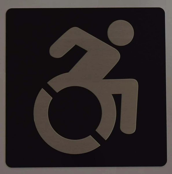 ACCESSIBLE SYMBOL Sign -Tactile Signs -The sensation line Ada sign