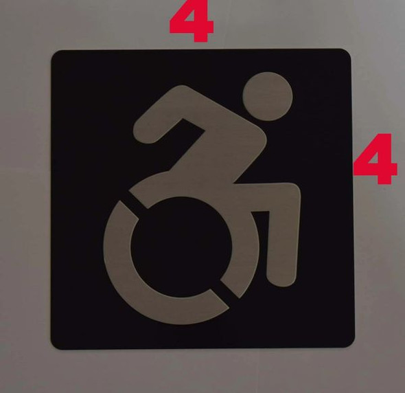 ACCESSIBLE SYMBOL Sign -Tactile Signs -The sensation line  Braille sign