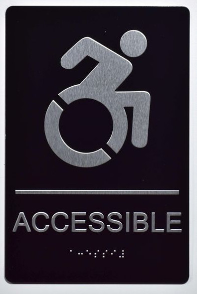 ACCESSIBLE Sign -Tactile Signs  -The sensation line Ada sign