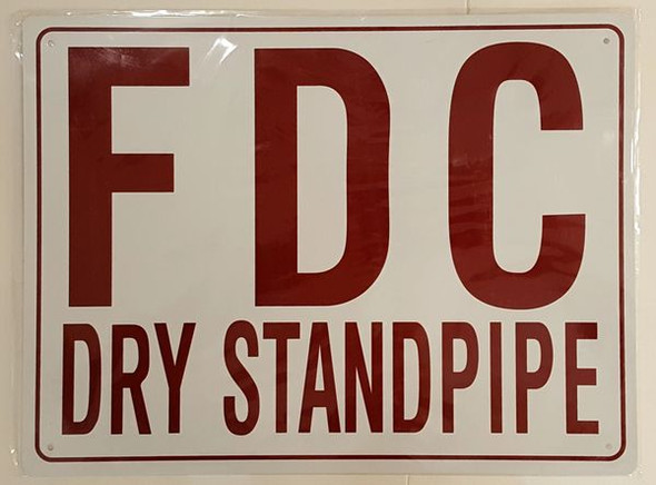 FDC DRY STANDPIPE Dob SIGN