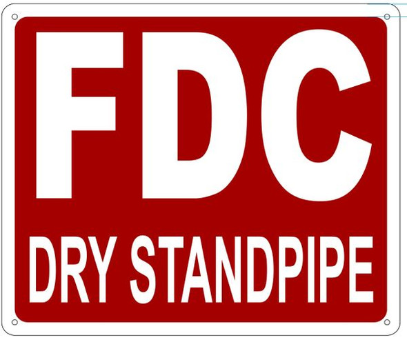 FDC DRY STANDPIPE Sign ,