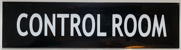 CONTROL ROOM SIGN Black