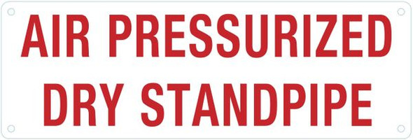 AIR PRESSURIZED DRY STANDPIPE SIGN