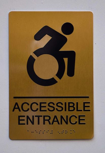 Accessible Entrance Directional Sign -Tactile Signs Tactile Signs  ADA-- THE SENSATION LINE Ada sign